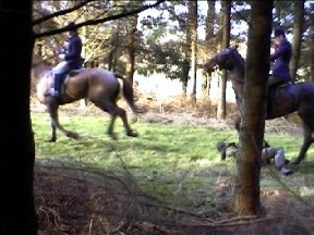 Simon is then ridden over by the whipper-in